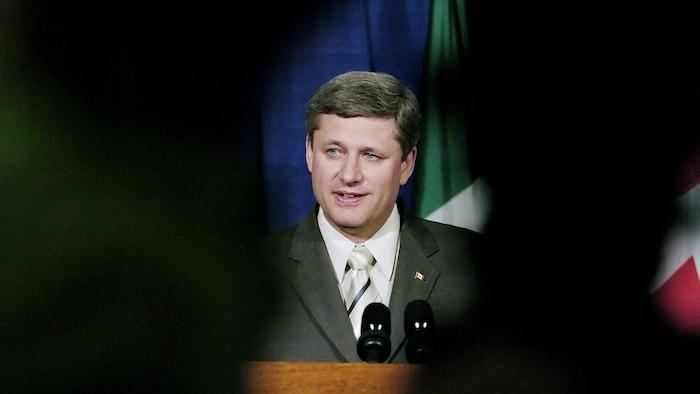 2006年,時任加拿大總理的斯蒂文·哈珀。