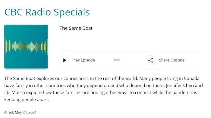 Click on the image to listen the whole episode of The Same Boat.