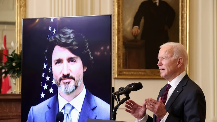 Biden Talking to Trudeau. The US  will have 90 days to publish a strategy explaining where it agrees and disagrees with Canada on China issues.