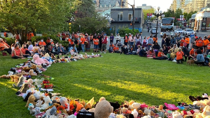 Neel, currently the acting head of the Indigenous Collections and Repatriation Department at the Royal B.C. Museum, helped organize a vigil and prayer ceremony at Mungo Martin House in Thunderbird Park, next to the museum, on May 31.