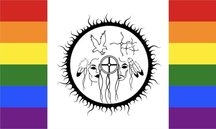 Une version du drapeau bispirituel.