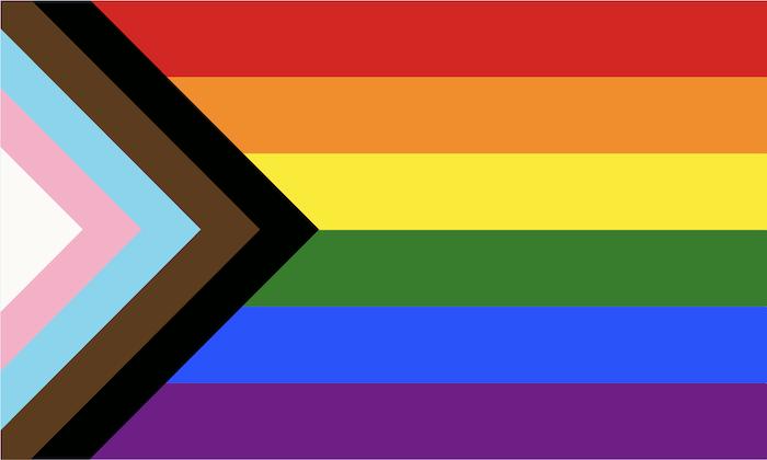 Le drapeau inclusif.