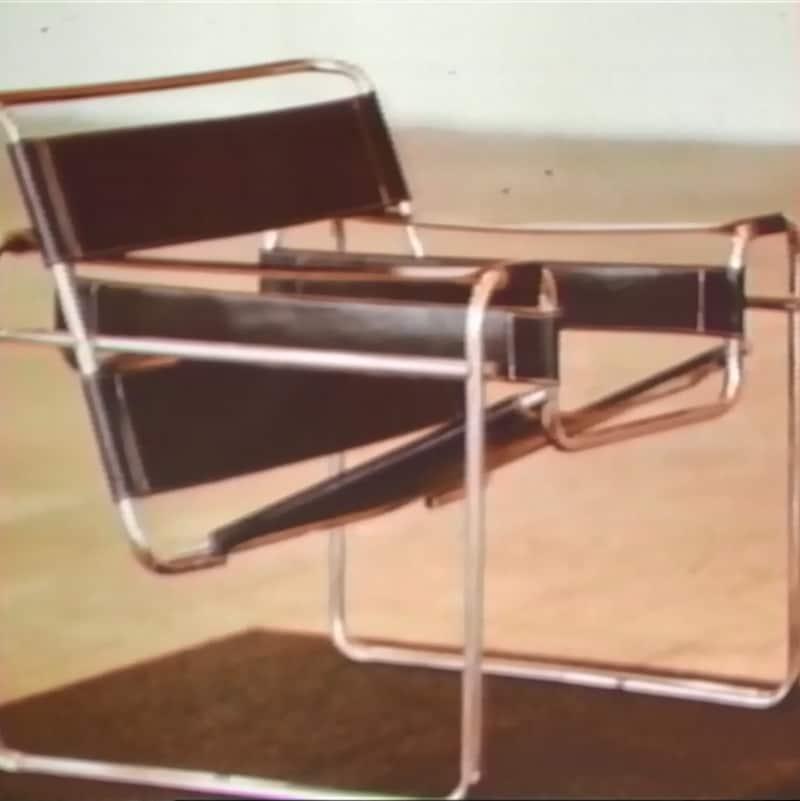 Modèle de chaise Wassily de Marcel Breuer.