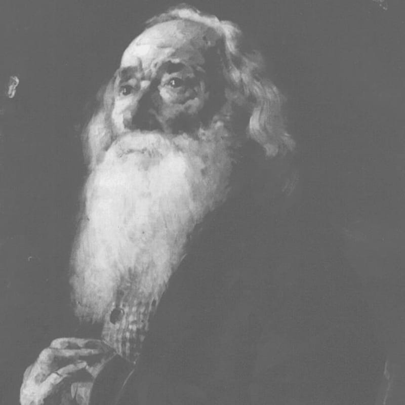 Portrait de Jos Montferrand vieillard.