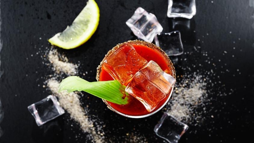 Un Bloody César dans un verre.
