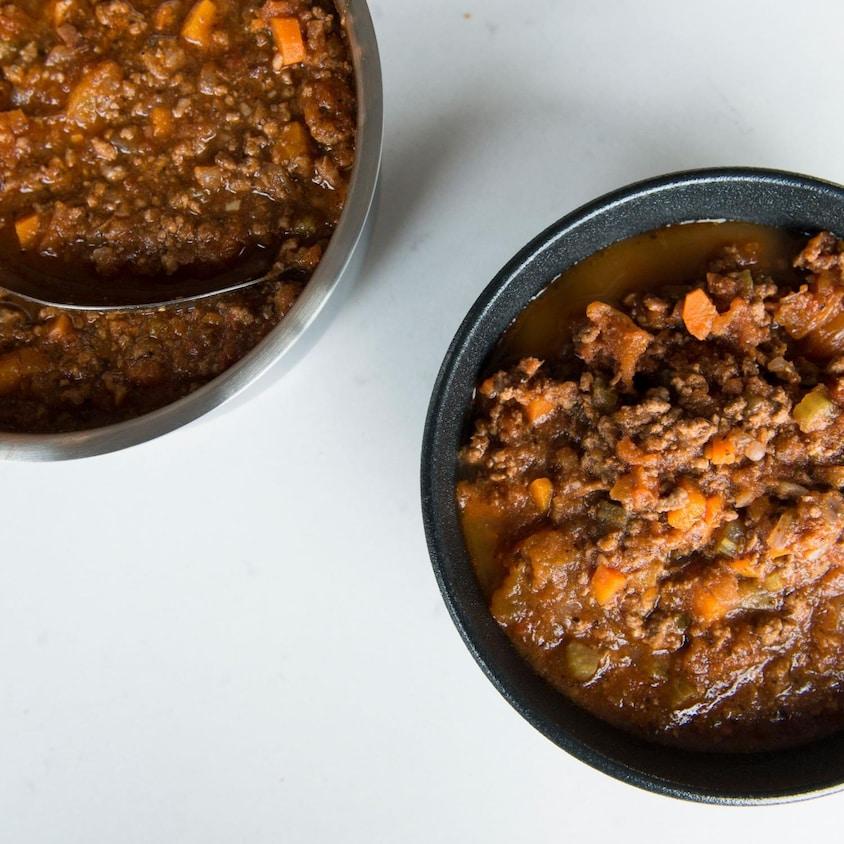 De la sauce à la viande.
