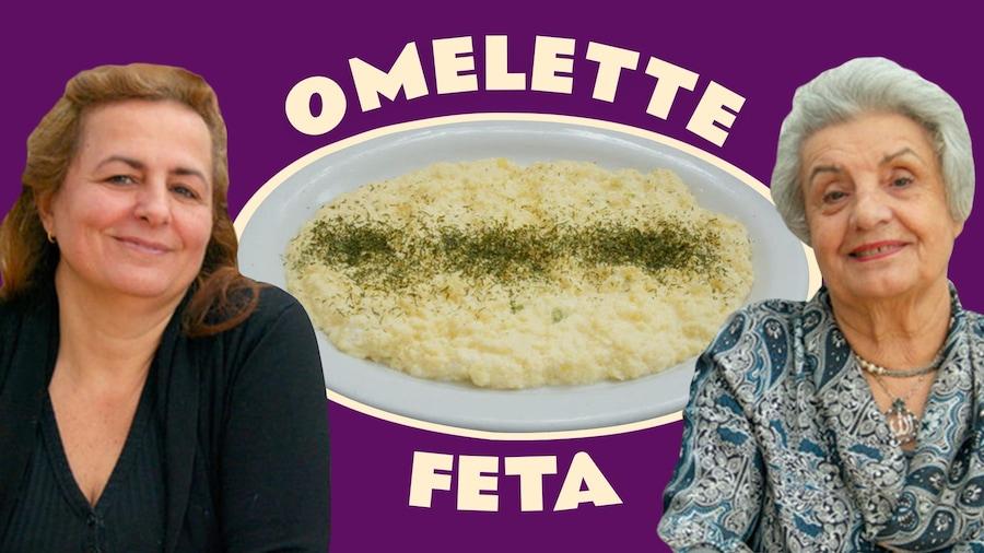 Nina et Hemela du Byblos avec la fameuse omelette feta.