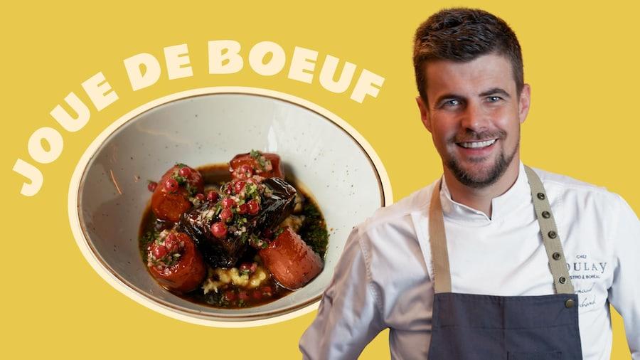 La joue de boeuf d'Arnaud Marchand, chef de Chez Boulay à Québec.