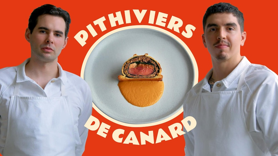 Francis Blais et Camilo Lapointe Nascimento et le pithiviers de canard du Menu Extra.