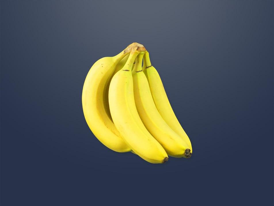 Une grappe de bananes.