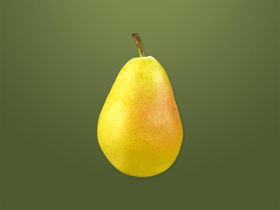 Une poire entière.