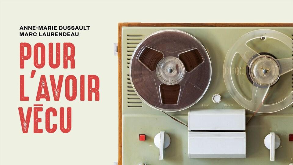 Illustration d'un appareil d'enregistrement à cassette.