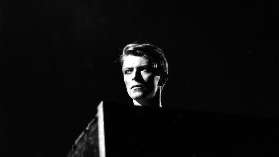Une photo artistique de David Bowie.