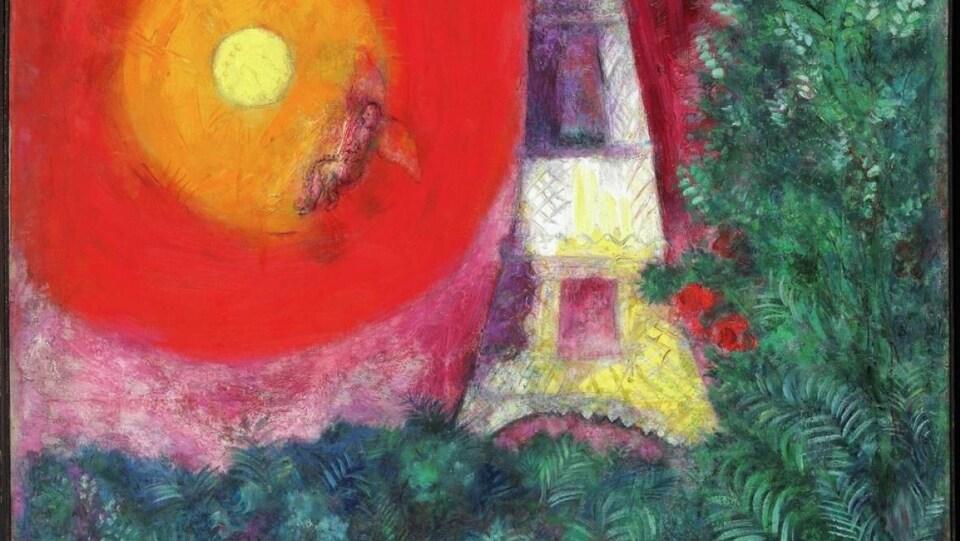 Le tableau «La Tour Eiffel» de Marc Chagall.