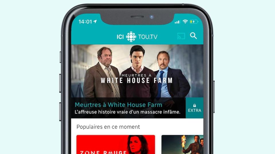 Application mobile: ICI TOU.TV