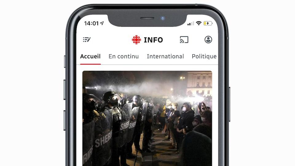 Application mobile: Radio-Canada Info