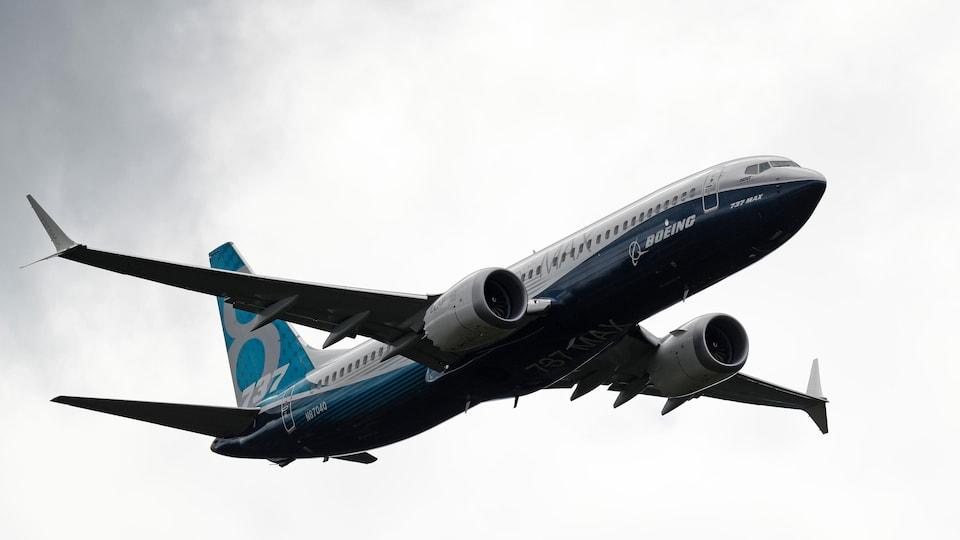 Un Boeing 737 Max en vol.