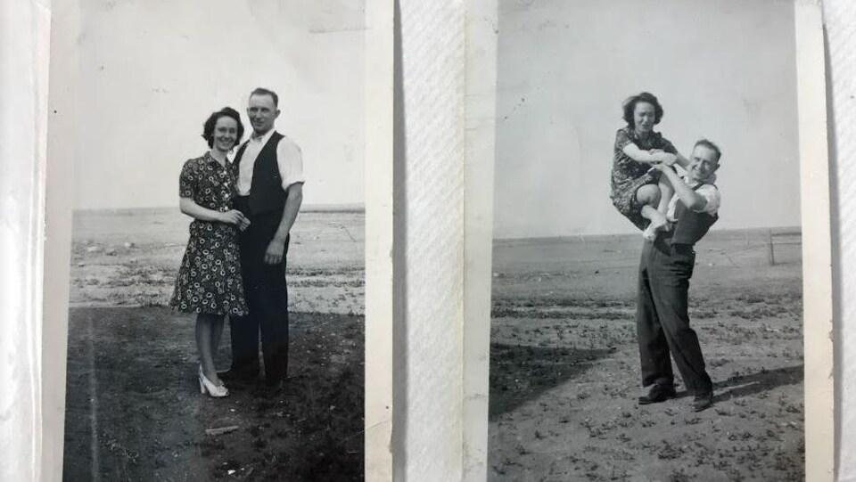 Annette accompagnée de son mari Ernest Nicolas, lors de leur voyage de noces en 1945