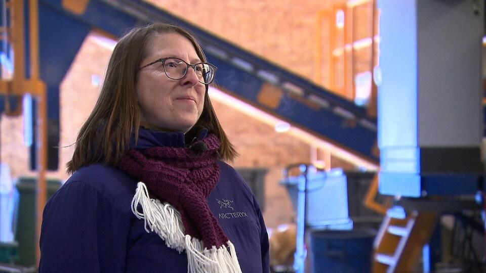 Nathalie Drapeau, directrice générale du Centre de tri de Grande-Rivière