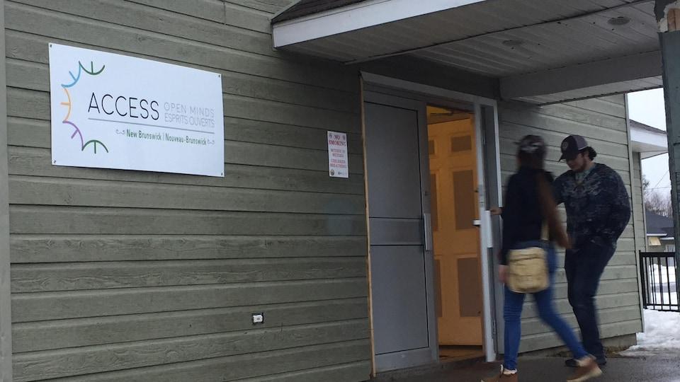 Le site d'Access Esprits ouverts à Elsipogtog.