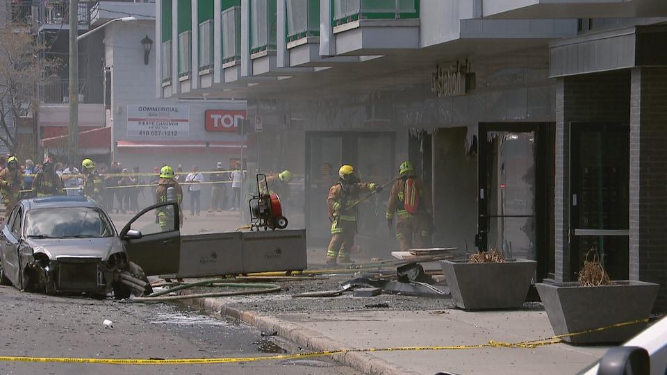 Une trentaine de pompiers ont été dépêchés sur les lieux du drame.