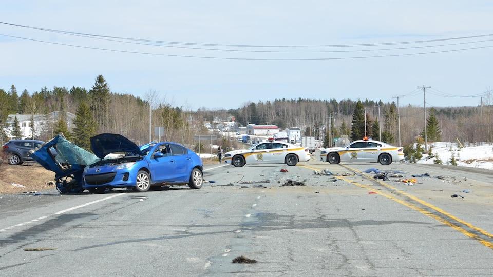 Une scène d'accident.