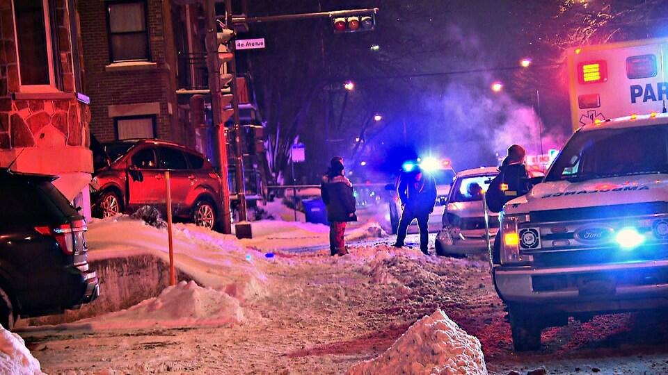 Une scène d'accident sur la 4e Avenue à Québec