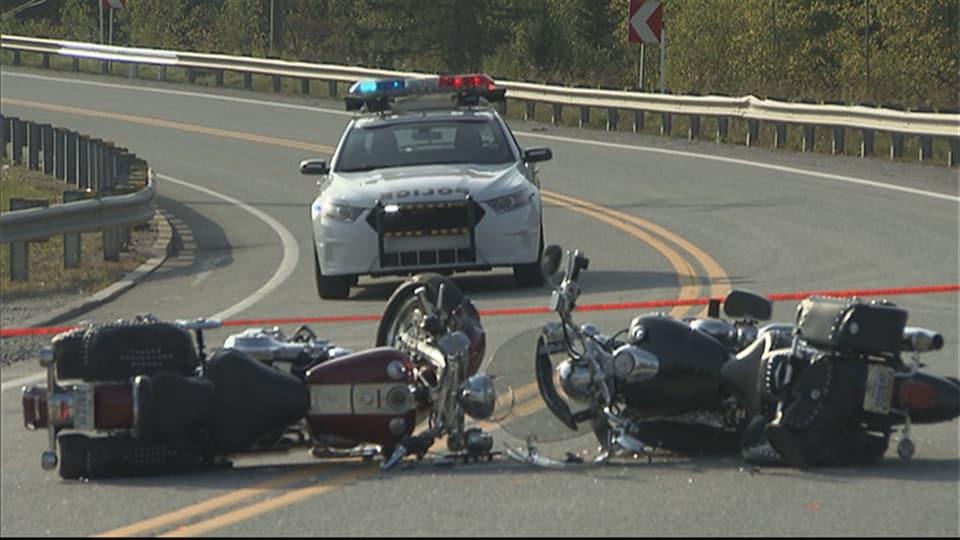 Un accident impliquant deux motocyclistes sur la route 108.