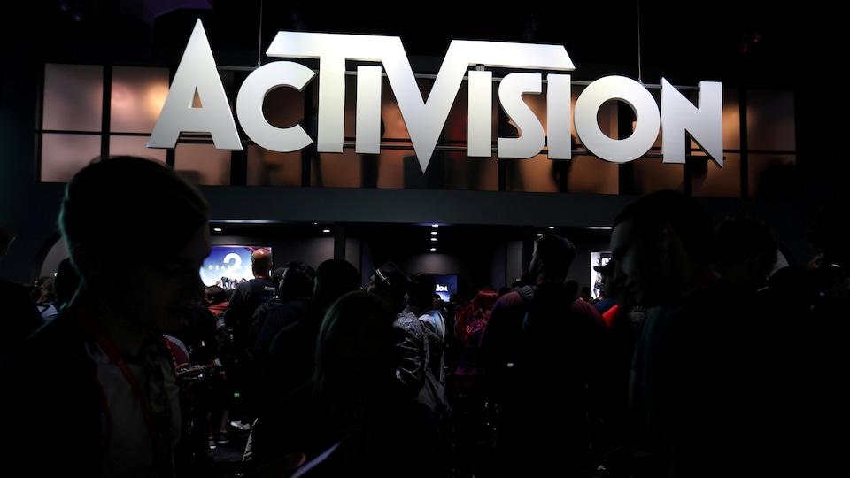 Le kiosque d'Activision à l'E3, en 2017.