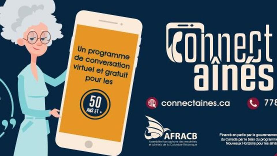 Les détails pour se connecter au programme, connecteaines.ca et numéro de téléphone : 778-747-0138.