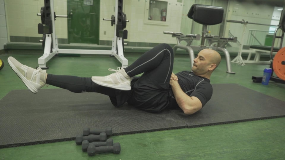 Adam Duong à l'entraînement.