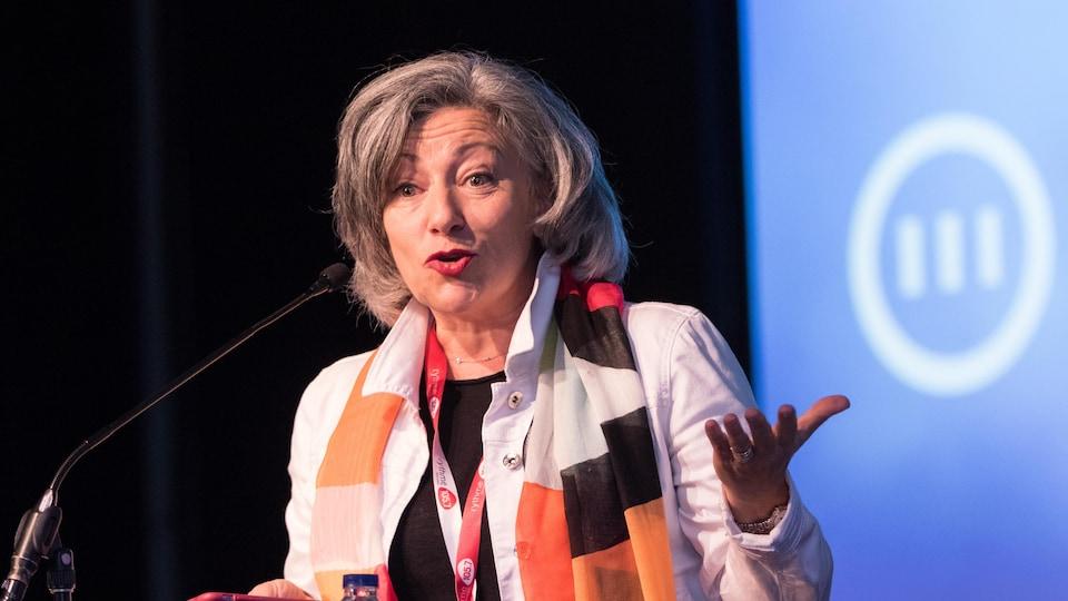 Solange Drouin, directrice générale de l'ADISQ et coprésidente de la Coalition pour la diversité des expressions culturelles