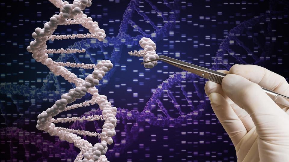 Illustration du concept d'édition génomique.