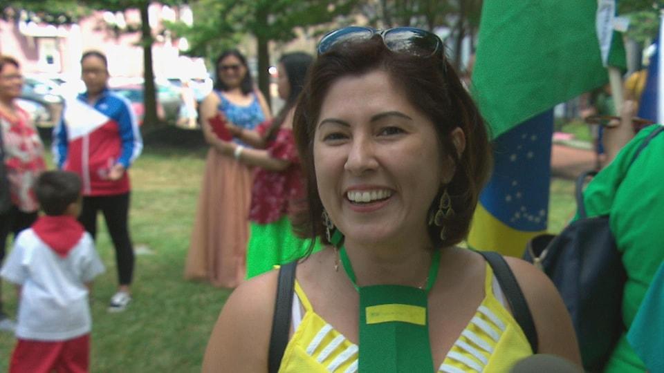 Adriana Campbell, membre de la communauté brésilienne de Moncton.