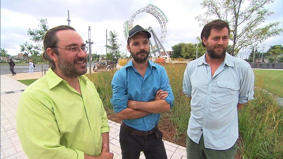 Jasmin Bilodeau, Sébastien Giguère et Nicolas Laverdière, de BGL