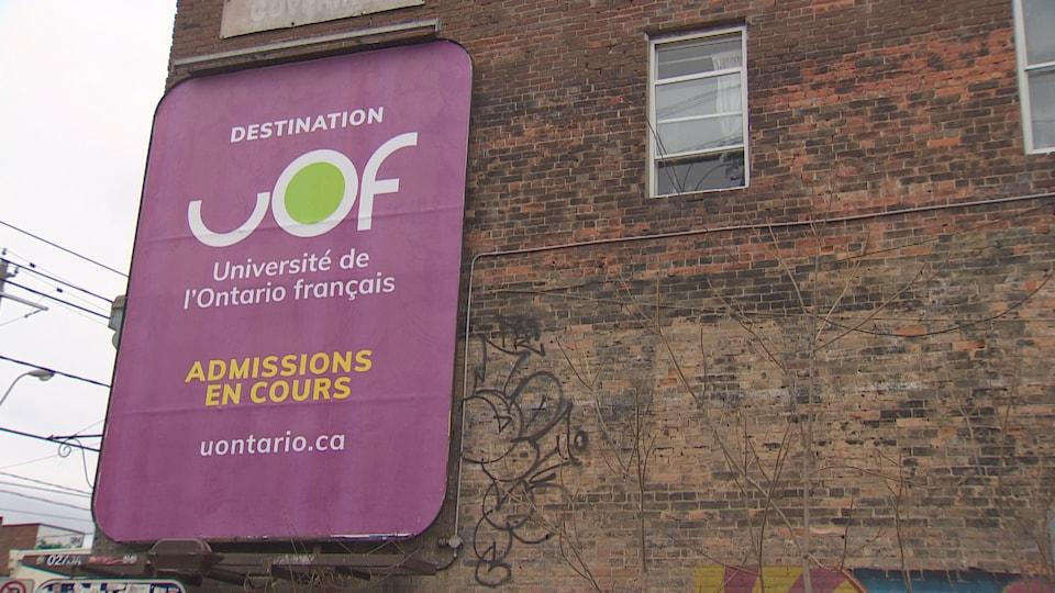Une affiche de l'Université de l'Ontario français