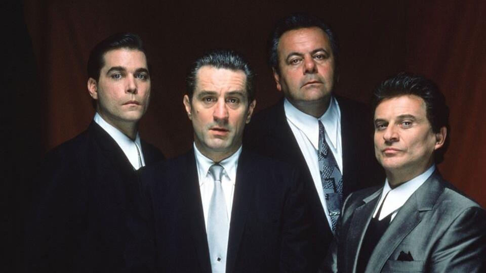 Les acteurs du film « Les affranchis » : Ray Liotta, Robert De Niro, Paul Sorvino et Joe Pesci (de gauche à droite).