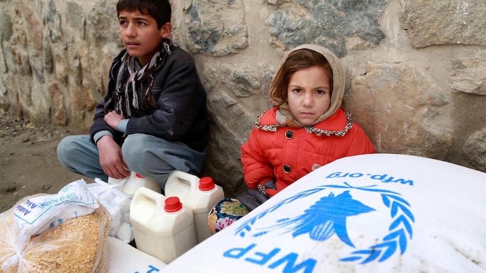 Des enfants afghans