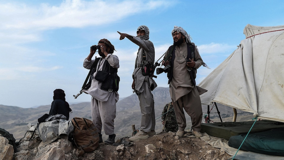 Des combattants afghans.