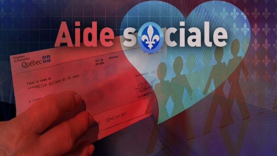 Chèque d'aide sociale.