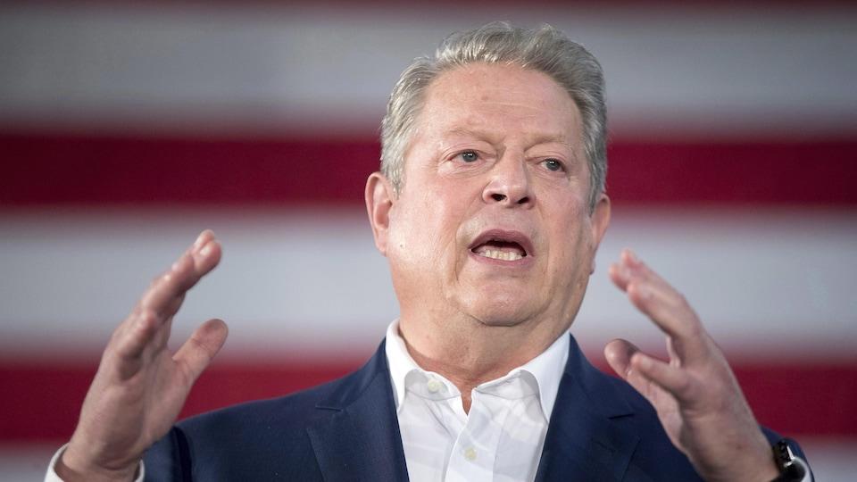 Al Gore a fait campagne pour la candidate démocrate Hillary Clinton en octobre 2016.