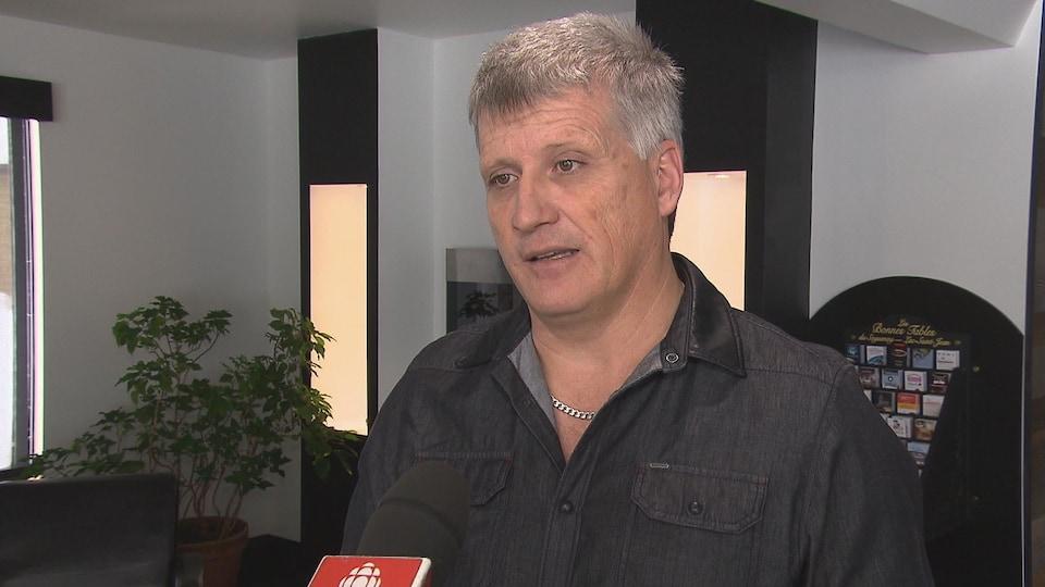 Alain Gagnon, président du Syndicat national des employés de l'aluminium d'Arvida.