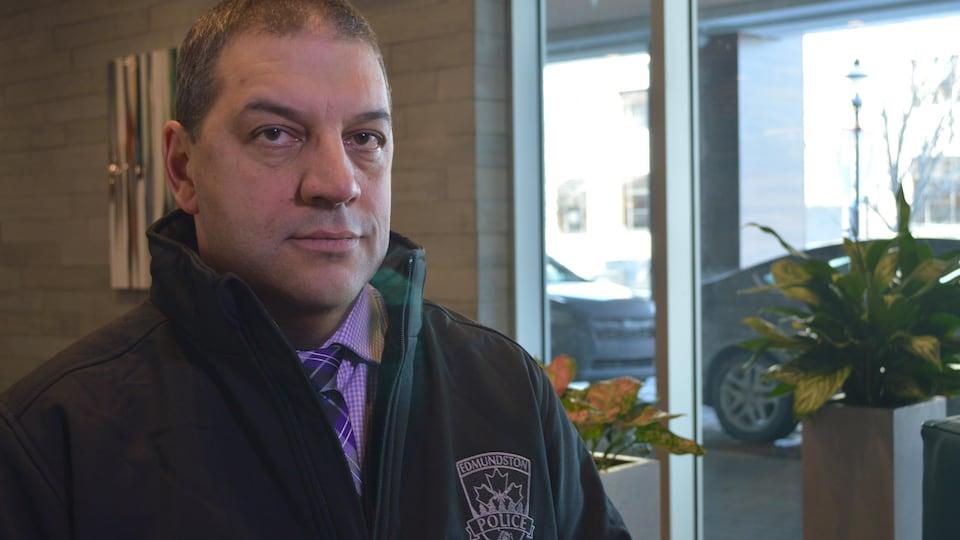 Le chef de la force policière d'Edmundston, Alain Lang.