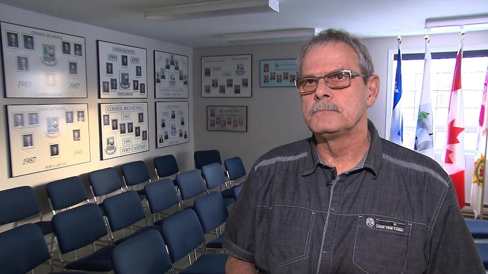 Le maire de Port-Cartier, Alain Thibault.