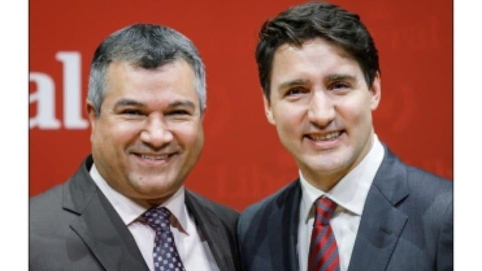 Alan Bender et Justin Trudeau.