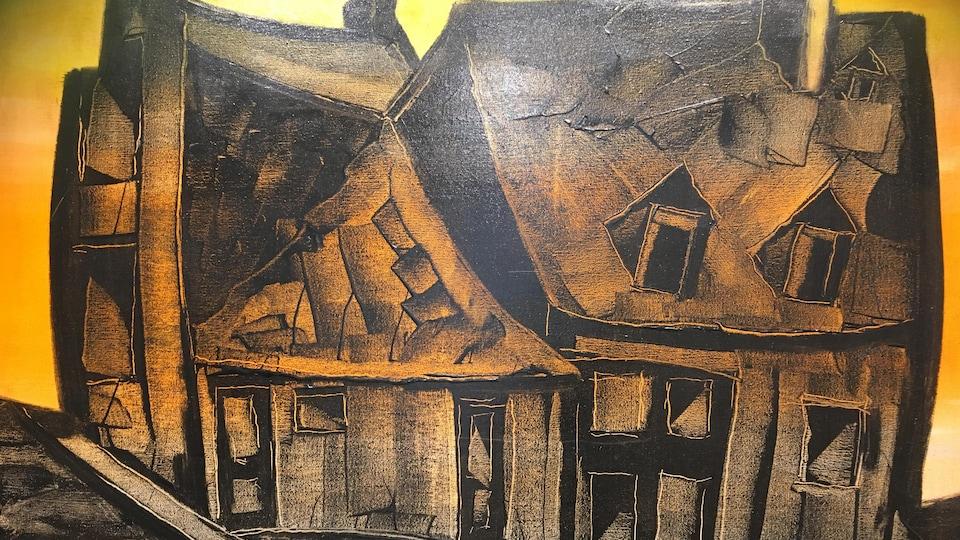 Maison Voguel d'Albert Rousseau Huile sur toile