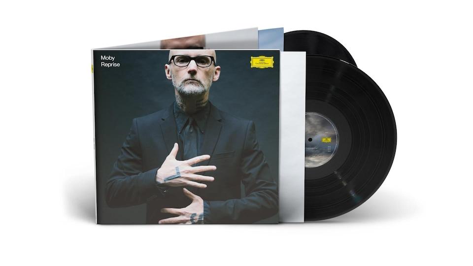 La pochette et les deux disques vinyle de Reprise de Moby.