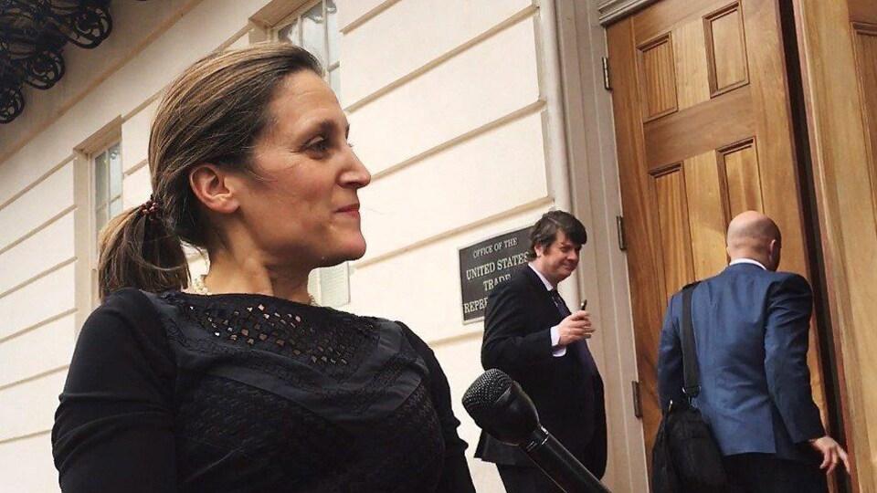 La ministre canadienne des Affaires étrangères Chrystia Freeland, à Washington.