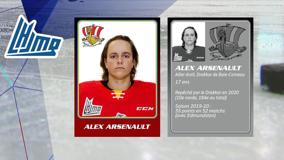 Alex Arsenault, 17 ans, Drakkar de Baie-Comeau