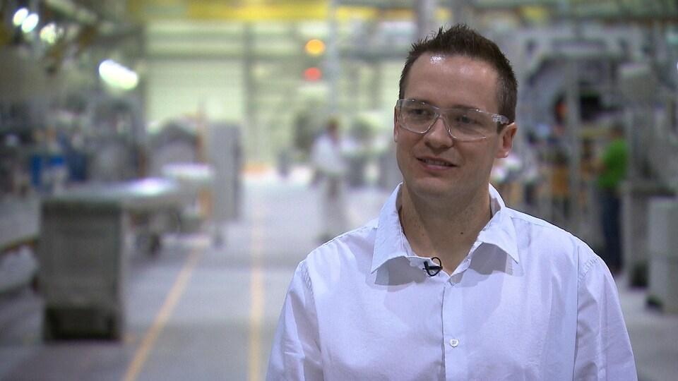 Alexandre Boulay, directeur de l'usine LM Wind Power